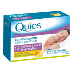 Quies Anti-Ronflement 12 Pastilles à Sucer Goût Miel Citron