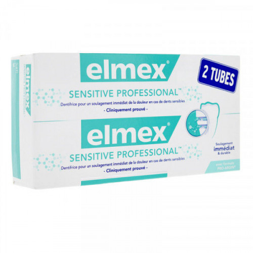 Elmex Sensitive professional Dentifrice 2 x 75 ml