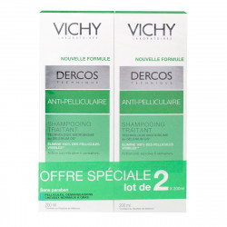 Vichy Dercos Shampooing Anti-pelliculaire cheveux normaux à gras 2 X 200 ml
