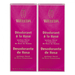 Weleda Rose Déodorant 100ml, lot de 2
