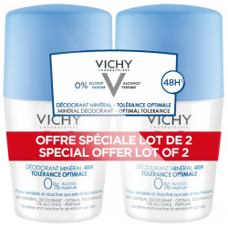 Vichy Déodorant Minéral 48H Roll-On Lot de 2 x 50 ml