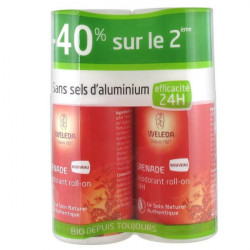 Weleda Déodorant à la Grenade Roll-on 24H Lot de 2 x 50 ml